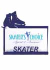 Business Card Holder for a Skater Blue