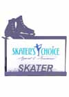 Business Card Holder for a Skater Purple