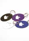 Key Chain Ring Skates Purple and White