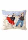 Skaters Needlepoint Pillow