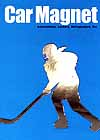 Magnet Female Hockey Player for Car, Locker or Anywhere