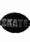 Magnet F Skate Word Oval for Car, Locker or Anywhere