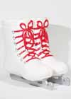 Ceramic Skate Boot Vase White with Red Laces