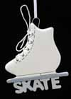 * Ornament Figure Skate With the Word Skate Underneath *