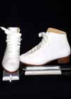 Consignment Riedell 112W White Ribbon Size Ladies 5