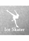 "Decal #1 Female Spiral Pose ""Ice Skater"" Underneath 5.5""x5.5"""