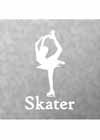 "Decal #3 Female Bielman Pose ""Skater"" Underneath 6""x4"""