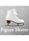 "Decal White Skate With ""Figure Skater"" Underneath 4.5""x5.5"""