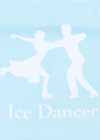"Decal #8 Ice Dance Pairs White ""Ice Dancer"" Underneath 5.75""x5.5"