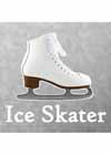 "Decal White Skate With ""Ice Skater"" Underneath 5""x5.5"""