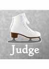 "Decal White Skate With ""Judge"" Underneath 5.25""x4.5"""