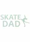 "Decal Window Vinyl ""Skate Dad"" Layback Skater Lime"