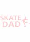 "Decal Window Vinyl ""Skate Dad"" Layback Skater Orange"