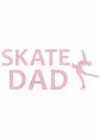 "Decal Window Vinyl ""Skate Dad"" Layback Skater Red"