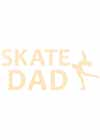 "Decal Window Vinyl ""Skate Dad"" Layback Skater Yellow"