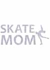 "Decal Window Vinyl ""Skate Mom"" Layback Skater Blue"