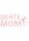 "Decal Window Vinyl ""Skate Mom"" Layback Skater Orange"