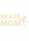 "Decal Window Vinyl ""Skate Mom"" Layback Skater Yellow"