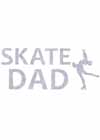 "Decal Window Vinyl ""Skate Dad"" Layback Skater Blue"