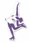 Air Freshener Figure Skater Purple Vanilla Scent Car or Locker