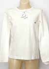 Ice Skate White LS Shirt with Appliqued Skates Child 8