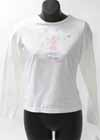 Skater Shirt White LS Skater Girl on a Pond in Snow Child 16