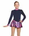 Mondor Polartec LS Solid Color Body Printed Skirt Child 6X-7