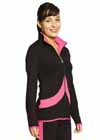 4801 Nylon Lycra Front Zipper Jacket Red Adult S