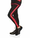 Mondor Black Leggings with Red Stripe on Both Sides 4802
