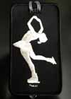 Luggage Tag Skater Layback Silver