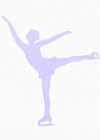 "Figure Skater Wall Decals Wall Decor Spiral Lavender 22"" Tall"