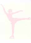 "Figure Skater Wall Decals Big Wall Decor Spiral Pink 22"" Tall"
